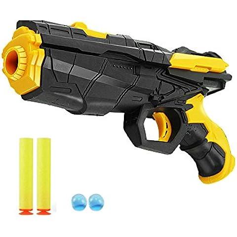 Pushingbest 2in1 Strike Blaster Gun Foam Dart Gun Blaster Toy Hand Gun Pistol with Foam Dart and Water Polymer