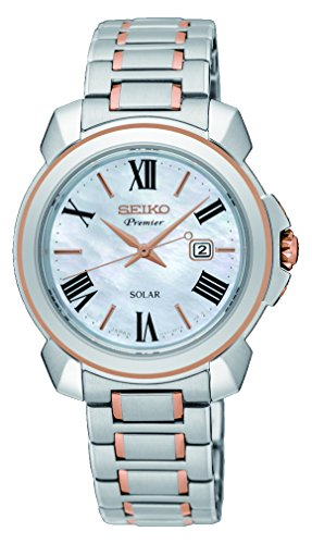 Seiko Premier Solar Ladies Watch Two-Colour SUT322P1