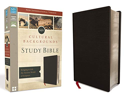 NIV, Cultural Backgrounds Study Bible, Bonded Leather, Black: Bringing to Life the Ancient World of Scripture