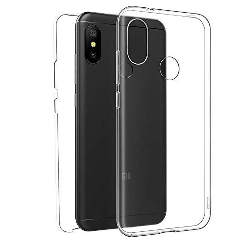 TBOC Funda para Xiaomi Redmi 6 Pro - Mi A2 Lite - Carcasa [Transparente] Completa [Silicona TPU] Doble Cara [360 Grados] Protección Integral Total Delantera Trasera Lateral Móvil Resistente Golpes