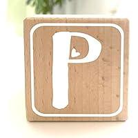 Holzwürfel mit Buchstabe P