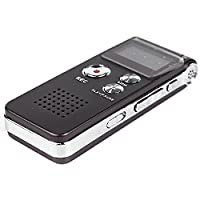 Multifunctional Rechargeable 8GB Digital Audio Voice Recorder Sound Recordin Portable Dictaphone MP3 Player-Brown