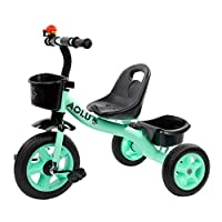 BABYGAMK Children Toddler Tricycle Tricycles for Boys, Trike for Kids Age 2/3/4/5/ Years Old Children, 3 Wheeler Bike Pedal Ride On, Quick Assembly (Color : Green , Size : Onesize )