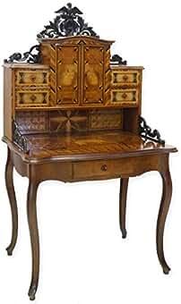 antike fundgrube sekretar schreibsekretar schreibmobel historismus um 1880 mit intarsien