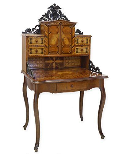 Antike Fundgrube Sekretär Schreibsekretär Schreibmöbel Historismus um 1880 mit Intarsien (8332)
