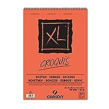 Canson XL Croquis Papier à dessin 60 feuilles A2 42 x 59,4 cm 90 g Ivoire