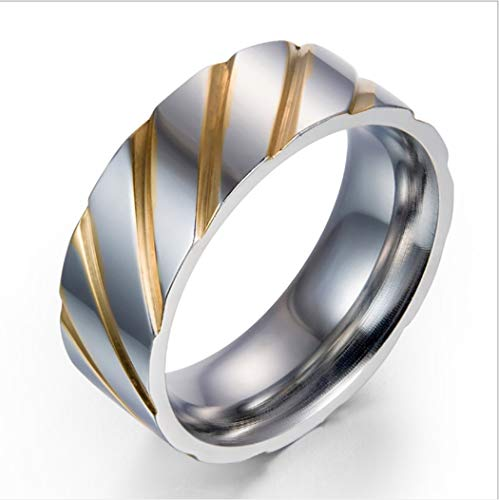 Yoyoyaya anello maschio scultura fasce acciaio inox femmina giovane gioielli squisita dono,sette