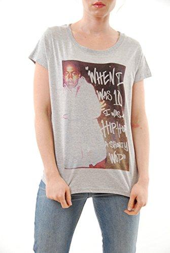 Eleven Paris delle undici donne Paris Nas Shorty Wop Girocollo T-shirt Taglia S grigio NUOVO