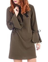 La Modeuse - Robe courte manches évasées