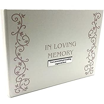 Personalised In Loving Memory Remembrance guest  Book with photo #8