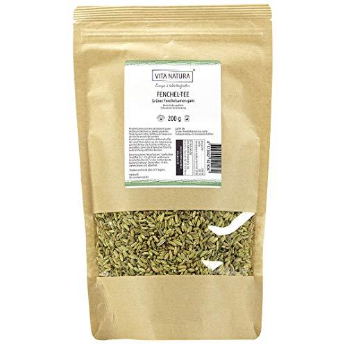 Vita Natura Fenchel Tee, Grüner Fenchelsamen, 1er Pack (1x 200 g)