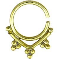 Chic-Net naso anelli punta ottone SETTO microabrasivi tre angolo Piercing naso in ottone Tribal senza nichel anticato oro