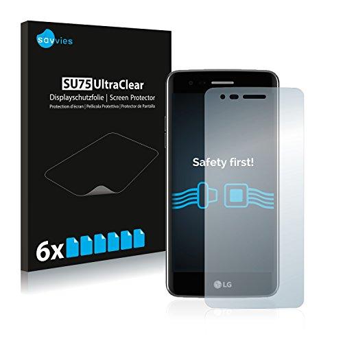 Savvies Schutzfolie kompatibel mit LG K8 2017 (6 Stück) - ultraklare Bildschirmschutz-Folie