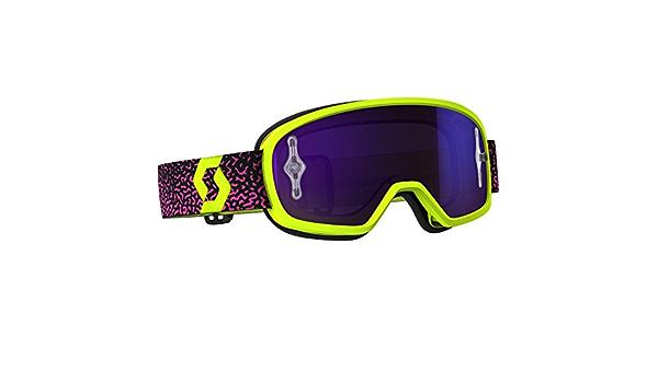 Scott Buzz Pro Mx Kinder Goggle Cross Mtb Brille Gelb Pink Lila Chrom Works Auto