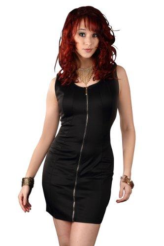 5479 Robe courte en matière stretch robe disponible en 5 couleurs Noir - Noir