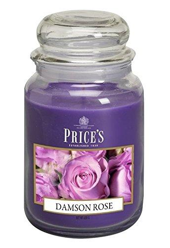 Price's Kerzen im Glas, groß, Zwetschgen-Rose