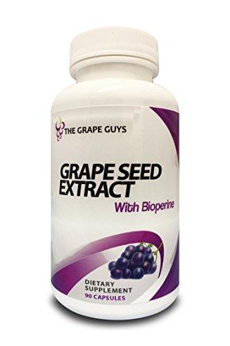 Ultimatives Traubenkern Extrakt 95% OPC mit zusätzlichen Bioperine (für erhöhte Aufnahme!) - Einer der EINZIGEN Traubenkern Ergänzungen in der WELT mit zusätzlichem Bioperin für besser Aufnhame - Auch für Vegetarier und Veganer geeignet - 3 Monats Vorrat (90 Kapseln)!