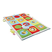 Sipobuy Large Baby Activity Play Mat, Kids Toddler Crawling Educational Toy Learning Game Soft Cutton Pad, Cute Cartoon Animals, 145*90cm