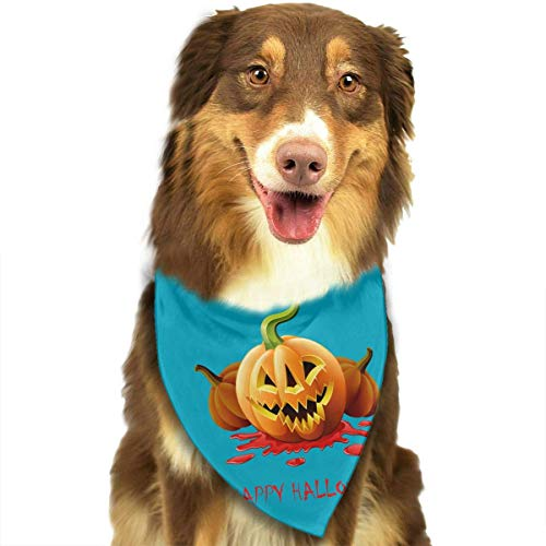Wfispiy Dog Bandana Pet Scarf Halloween Pumpkin Classic Pet Bandana Pet Collars for Dog Cat One ()