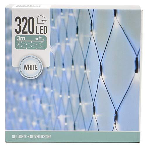 320 LED Lichternetz 3m x 1,5m für außen und innen Lichterkette Lichtnetz Außenbeleuchtung Weihnachtsbeleuchtung (kaltweiß)