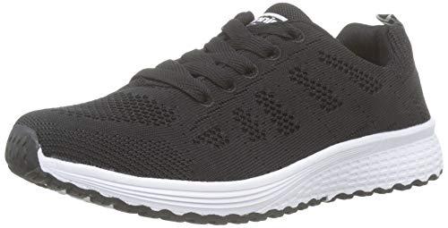 Scarpe Donna da Ginnastica Running Sports Sneaker da Fitness, Nero 38