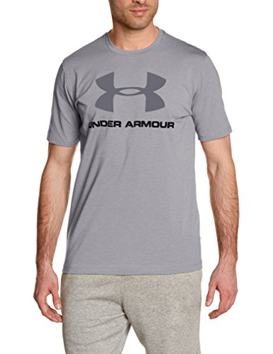 Under Armour Cc Sportstyle Logo Herren Fitness - T-Shirts Grau (True Grey Heather)