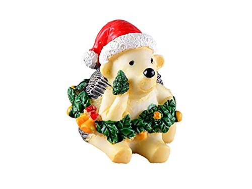 JwlqAy Exterior Interior Tema de Navidad Miniatura Animal Erizo Micro Paisaje DIY Craft Garden Home Decoration (Colorful)