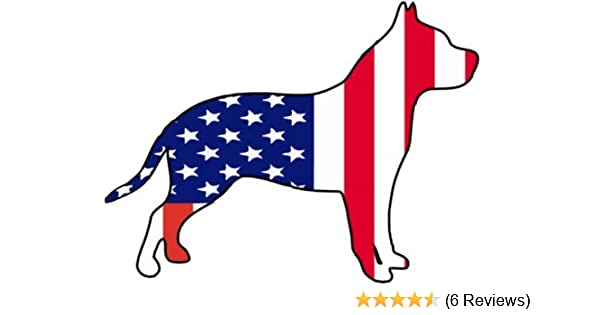 WickedGoodz Die Cut American Flag Pitbull Decal Perfect American Pit Bull Terrier Owner Gift Pit Bull Bumper Sticker
