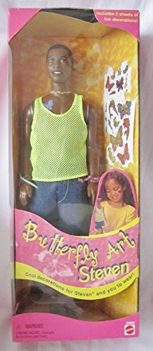 1998 Barbie - Butterfly Art Steven - avec 2 planches de stickers Papillons - Poupée Doll Collector Special Edition #22996