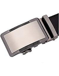 SAMGU Cuir noir ceinture Ceinture automatique Mode Hommes avec boucle automatique largeur de 3.5cm