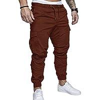SOMTHRON Homme Ceinture élastique à long coton Jogging pantalons de  survêtement Plus la taille Mode Sport fd80db87493