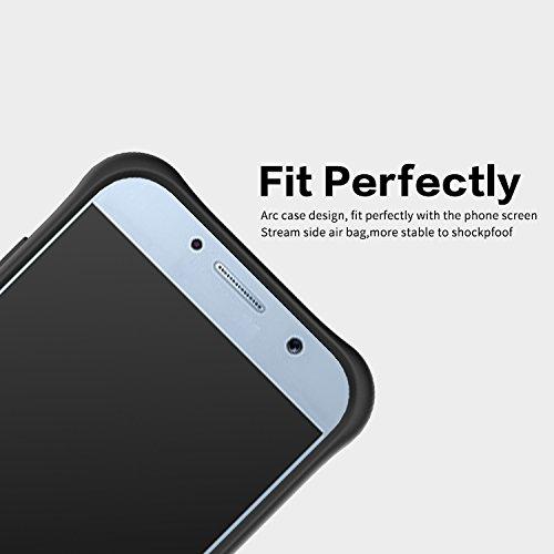 YHUISEN Galaxy A5 2017 Case, Hybrid Tough Rugged Dual Layer Rüstung Schild Schützende Shockproof mit 360 Grad Einstellung Kickstand Case Cover für Samsung Galaxy A5 2017 ( Color : Red ) Gold