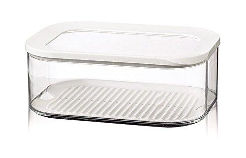 Mepal kühlschrankdose modula käse 2000 ml, Plastik, Weiß, 22.4 x 16 x 8.6 cm