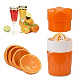 ScentRose® Citrus Orange Juicer Lemon Squeezer, Manual Hand Juicer with Strainer and Container, for Lemon,Orange,Lime,Citrus(Orange Color)