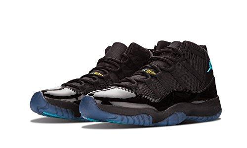 Nike Air Jordan 11 Retro, Chaussures de Sport Homme, Noir Multicolore - Negro / Azul / Negro (Black / Gamma Blue-Blck-Vrsty Mz)