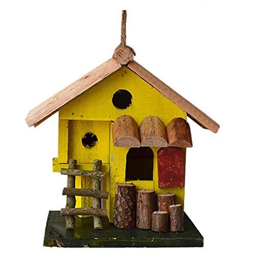 Casa Degli Uccelli Guglia Creativa In Legno Uccello Casa Di Sollevamento All'aperto Inglese Cortile Cortile Capanne Uccello Casa Uccello Piccola Casa Voliera In Legno Naturale Fatto A Mano Ottimo Per