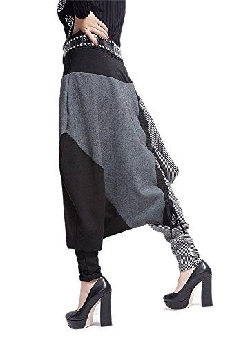 Donna Casual Danza Jogging di Hip Hop Rigonfio Harem Tuta Pantaloni sportivi-LATH.PIN Harem-06