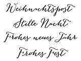 Clear-Stamp-Set Stempel-Gummi Karten-Kunst - Große Worte