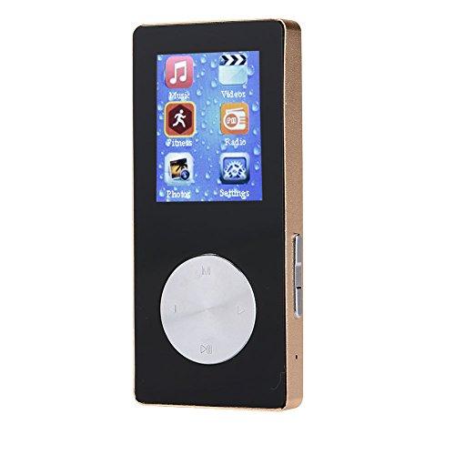 Hanbaili Reproductor de música MP4 portátil con Equipo de Alta fidelidad con Bluetooth podómetro y Radio FM