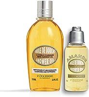 L'Occitane Almond Shower Oil, 250ml, Almond Shower Oil, 35ml C