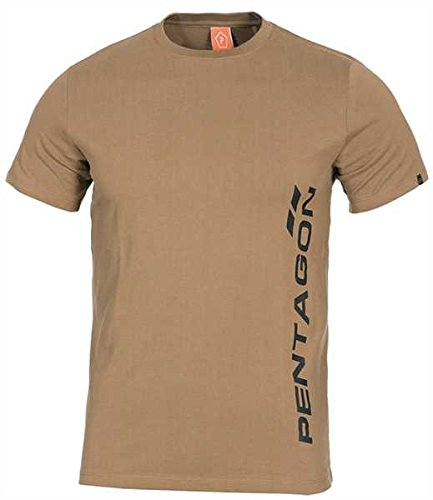 Pentagon T-Shirt Vertical Coyote, XL, Coyote
