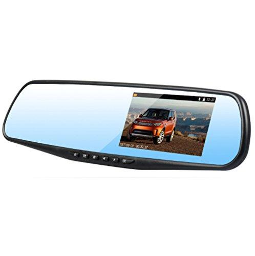 Dashcam Auto Kamera Rückfahr Kamera Mit Dashcam Rückspiegel Monitor Dashcam Touchscreen Spiegel Dashcam 1080P Full HD 170° Weitwinkel Und Dual-Objektiv Mit Einparkhilfe, G-Sensor Und Loop-Aufnahme