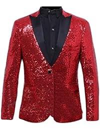 BOLAWOO Blazer Uomo Cappotto Blazer Elegante da Tuxedo Slim Sposa Fit da  Mode di Marca Uomo Vintage in Paillettes Giacca Lunga… 6cfd6d82b8b