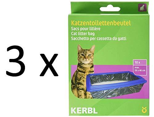 Kerbl 84215 - Bolsas para Aseo de Gatos XL (59 x 46 cm, 10 Unidades)