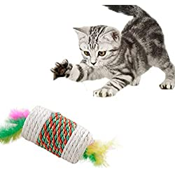 LnLyin Haustier Katze Roll Sisal Kratzen Katze Kätzchen Spielzeug Rollen Sisal Scratch Board Roller Übung Trainingswerkzeug