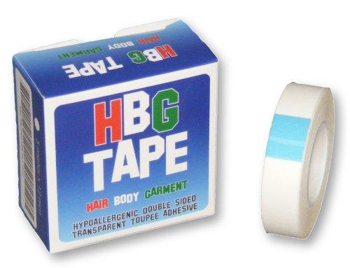 Preisvergleich Produktbild Doppelseitiges Klebeband für Toupets, Perücken, Kleider, etc., hypoallergen, 12mm, Transparent, 3Packungen