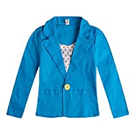 GETUBACK Girls Cotton Outerwear Fit Casual Jackets Suit Blazers Candy Color 3-8Y 8T Blue