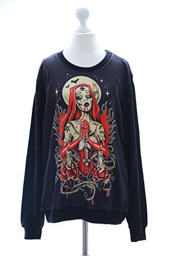 ister Gothic schwarz Vintage Sweatshirt Pullover Japan Harajuku Kawaii-Story (Harajuku Kawaii)