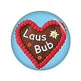 Kiwikatze Fest - Lebkuchenherz Lausbub Button Ansteckbutton 37mm Oktoberfest Wiesn Volksfest für Dirndl oder Lederhose