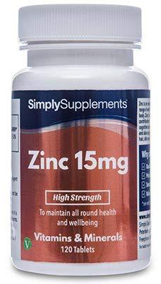 Zinco 15 mg - 120 compresse - Adatto ai vegani - 4 mesi di trattamento - SimplySupplements